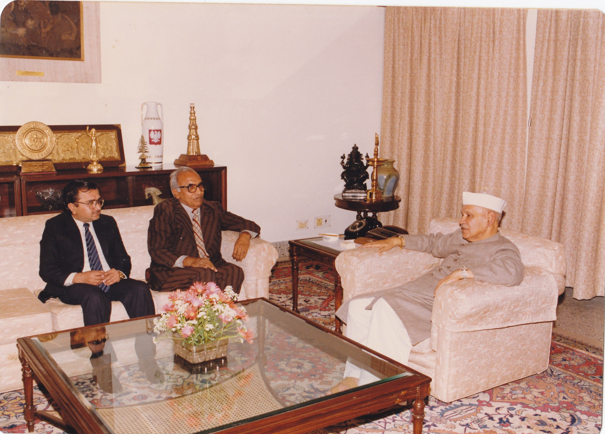 During a discussion with the then President of India- Dr. Shankar Dayal Sharma
