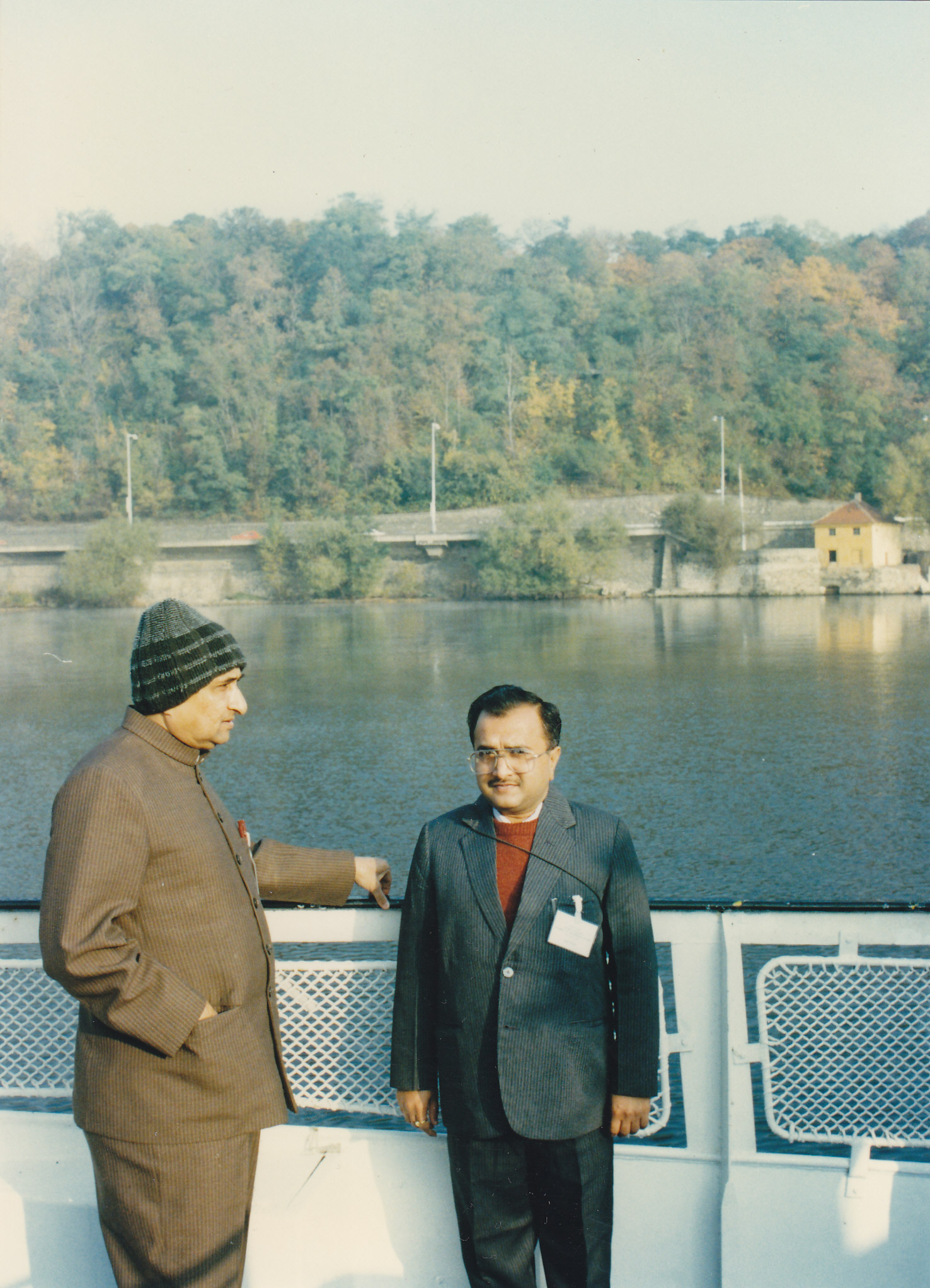 During foreign visit
