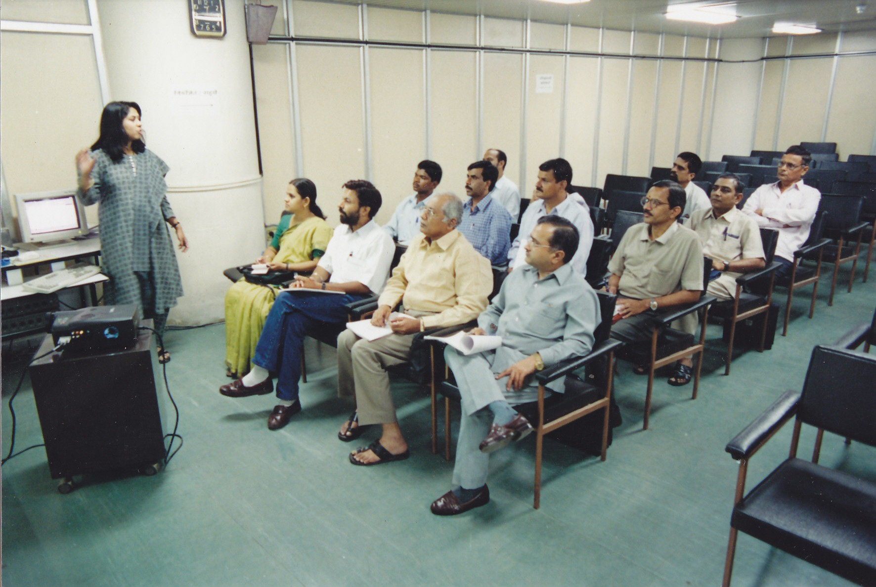 During a Training programme