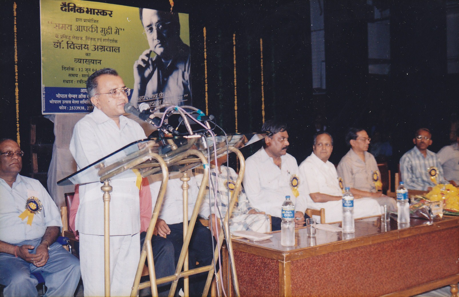 Addressing huge crowd during an open lecture organised by Dainik bhaskar in Bhopal
