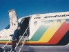 Boarding in the flight of Zimbabwe during Presidential tour