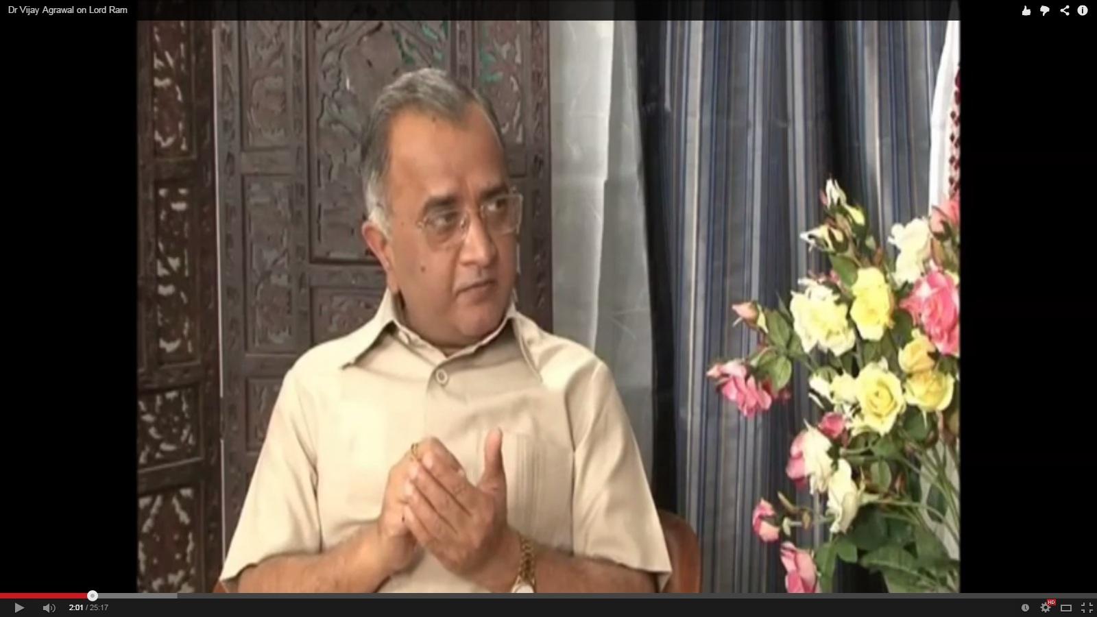 Dr Vijay Agrawal on Lord Ram